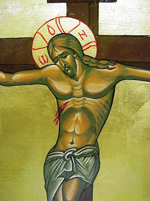 Icon of Jesus Dying on the Cross by Aleksander Kharon